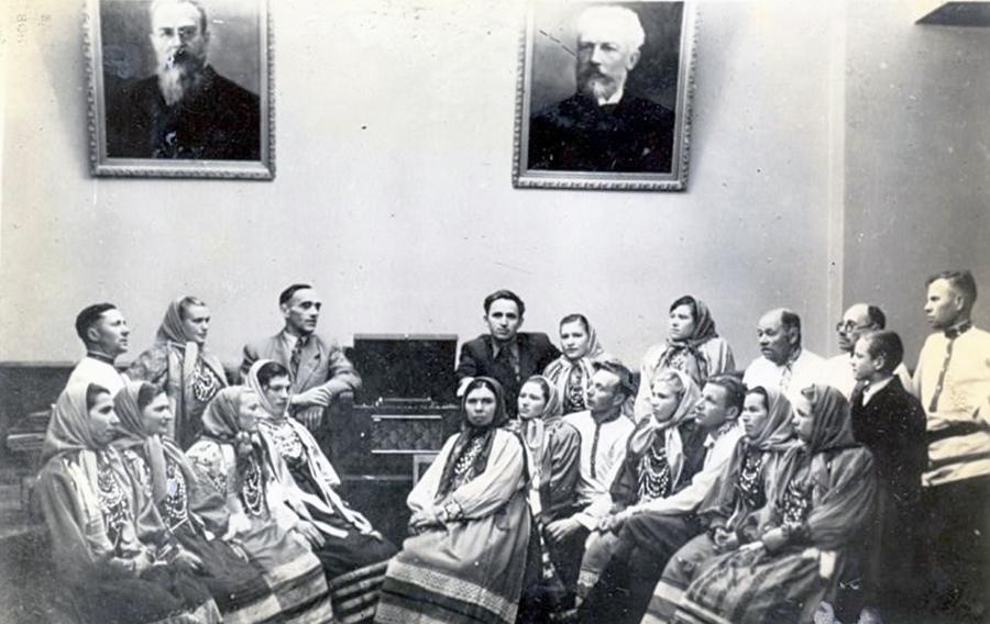 Хор колхоза «Красная культура» 24.10.1953г.