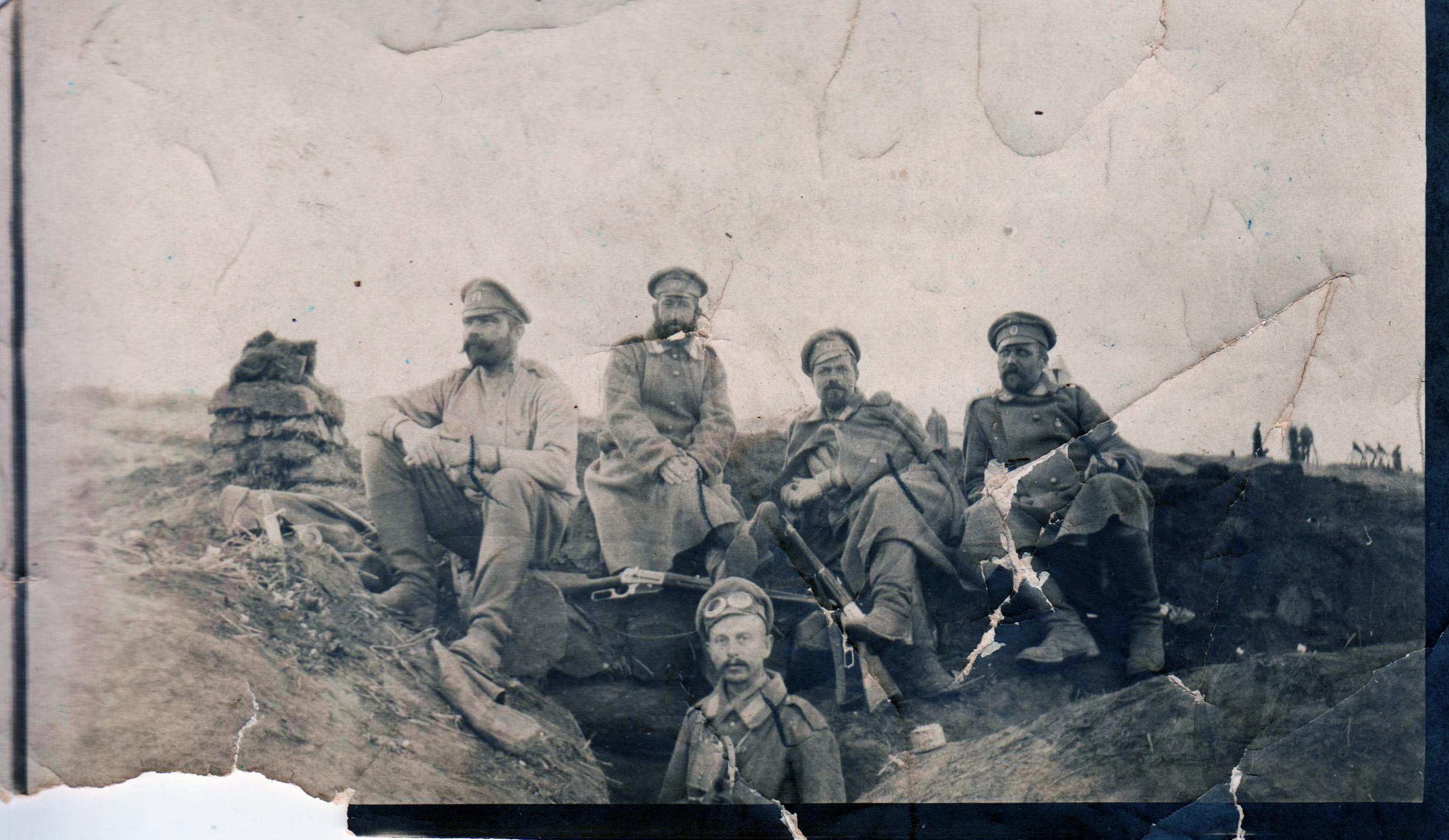 Целикин Лука Михайлович в окопах - 1915 год