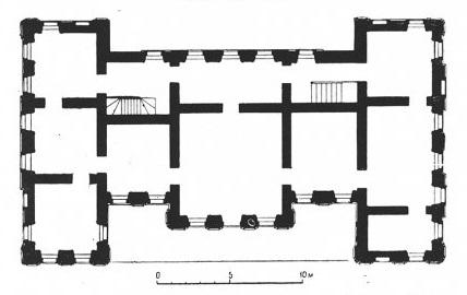 Белый дом - обмеры 2-го этажа