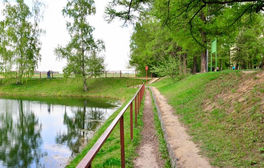 Нижний Фермский пруд и лиственницы
