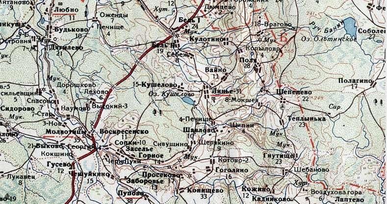 карта Молвотицы
